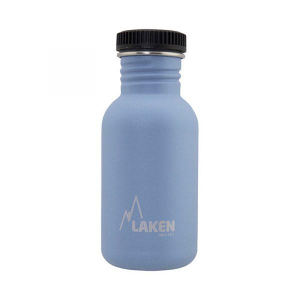 Chai nước thép Laken Basic Steel 0.5L Nắp nhựa - Blue