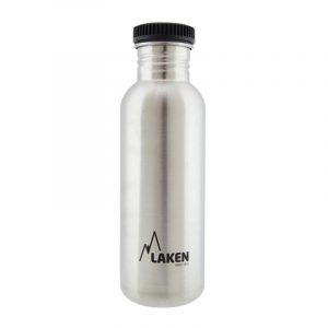 Chai nước inox Laken Basic Steel 0.75L Nắp nhựa - Plain