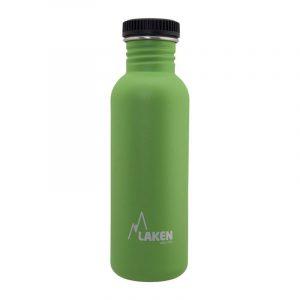 Chai nước inox Laken Basic Steel 0.75L Nắp nhựa - Green