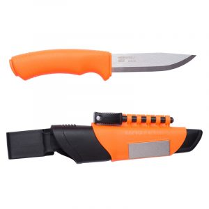 Dao Morakniv Bushcraft Survival Stainless Steel - Hi-Vis Orange