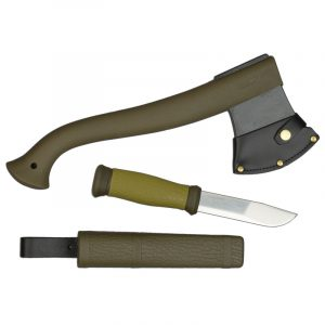 Bộ dao rìu Morakniv Outdoor Kit - Military Green
