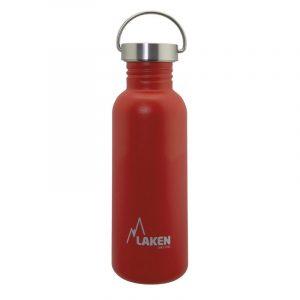 Bình nước inox Laken Basic Steel 0.75L Nắp thép - Red