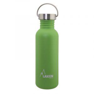Bình nước inox Laken Basic Steel 0.75L Nắp thép - Green