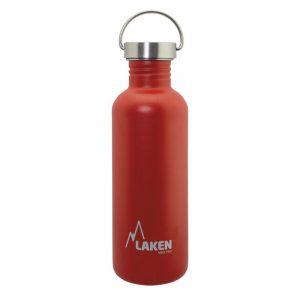 Bình nước inox Laken Basic Steel 1L Nắp thép - Red