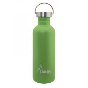 Bình nước inox Laken Basic Steel 1L Nắp thép - Green