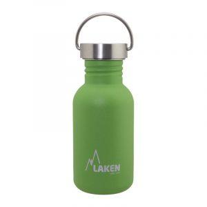 Bình nước thép Laken Basic Steel 0.5L Nắp thép - Green
