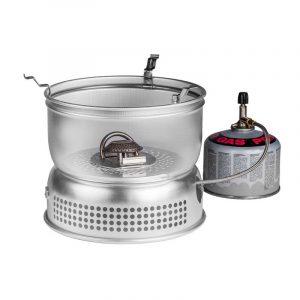 Bộ bếp Trangia Storm Cooker 27-1 UL - mô phỏng sử dụng Gas
