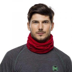 Khăn Buff Lightweight Merino Wool Neckwear - Solid Red Lifestyle