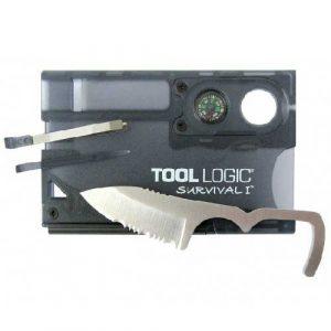 Thẻ đa năng sinh tồn Tool Logic Survival Card kèm La Bàn/Đánh lửa
