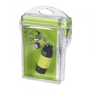 Đèn pin móc khóa UrbanGear MiniLight Yellow + Hộp chống nước