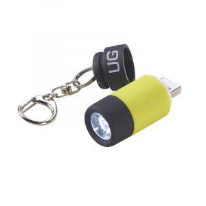 Đèn pin móc khóa UrbanGear MiniLight Yellow + USB