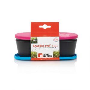 Hộp đựng đồ ăn SnapBox Oval 2-pack Light My Fire - Fuchsia/Cyan Pack