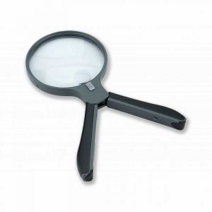 Kính lúp Carson Split Handle 2x Lighted Magnifier with Spot Lens - Neck cord HF-11