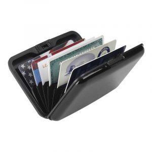 Ví đựng thẻ Lewis N Clark RFID-Blocking Alu Wallet Black