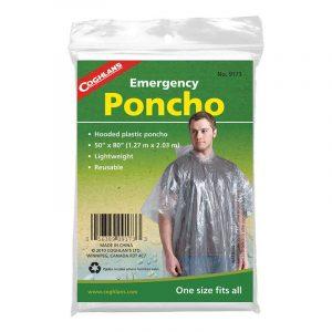Áo mưa du lịch Coghlans Emergency Poncho Clear
