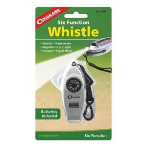 Còi đa năng Coghlans Six Function Whistle với 6 chức năng thiết yếu sống còn