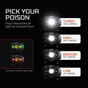 Đèn đội đầu kẹp nón Nebo Mycro 400 Lumens - Mode