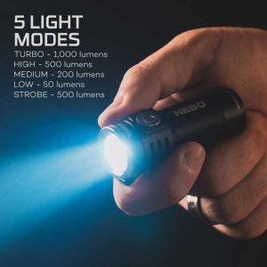 Đèn pin bỏ túi Nebo Torchy 1000 Lumens - Mode