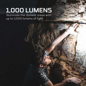 Đèn pin đeo đầu Nebo Transcend 1000 Lumens