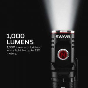 Đèn pin edc Nebo Swivel 1000 Lumens / Xoay 90º