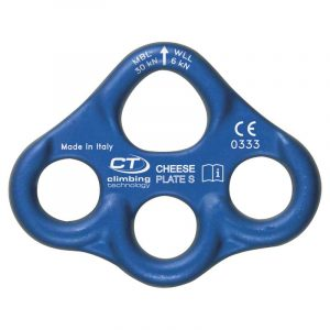 Đĩa neo Climbing Technology CHEESE PLATE S Rigging Multi-Anchor Plate 3 lỗ (2A63703 WX)