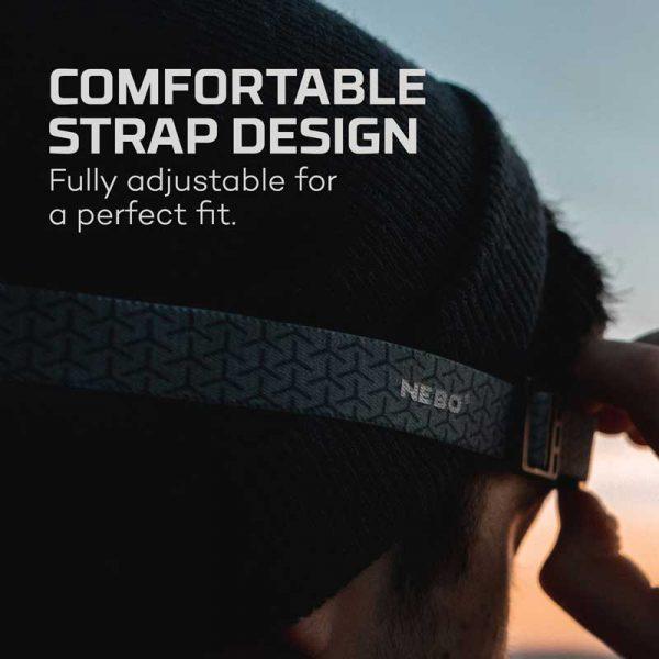 Đèn đội đầu Nebo Einstein 500 Lumens Headlamp - Comfortable Strap