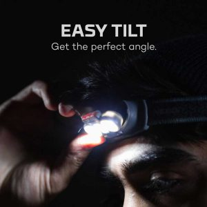 Đèn đội đầu Nebo Einstein 500 Lumens Headlamp - Easy tilt
