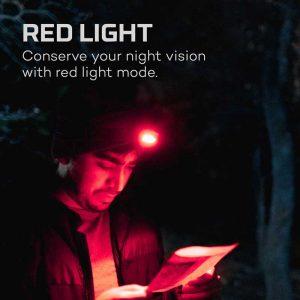 Đèn đội đầu Nebo Einstein 500 Lumens Headlamp - Red Light