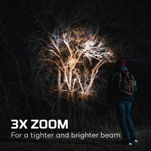 Đèn pin Nebo Newton 1000 Lumens AA Flashlights Zoom